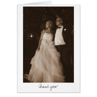 Julie -n- Matt Wedding 4x6 (sepia)-335, Thank you! Card