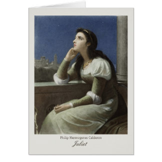 Juliet at the balcony CC0367 Philip H Calderon Card