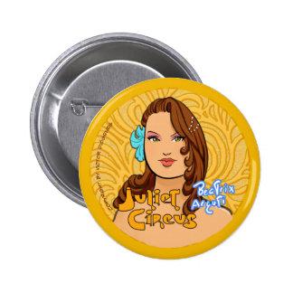 Juliet Circus - Beatrix Arguti 2 Inch Round Button