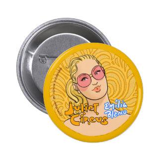 Juliet Circus - Emilia Blanco 2 Inch Round Button