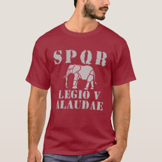 Julius Caesar 5th Roman Legion Elephant T-shirt
