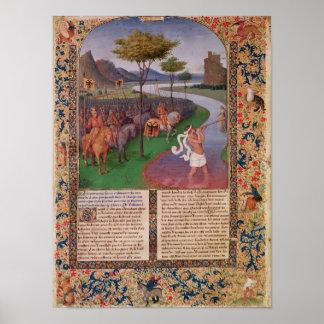 Julius Caesar  Crossing the Rubicon, c.1470 Poster