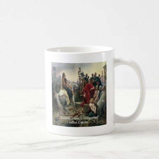 Julius Caesar I Came I Saw I Conquered Coffee Mug