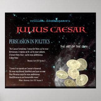 Julius Caesar Persuasion in Politics Poster