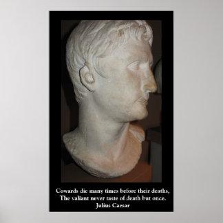 Julius Caesar QUOTATION ON A POSTER