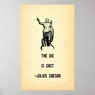 Julius Caesar Quote The Die Is Cast Poster