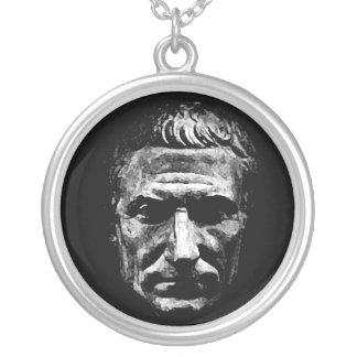 Julius Caesar Round Pendant Necklace