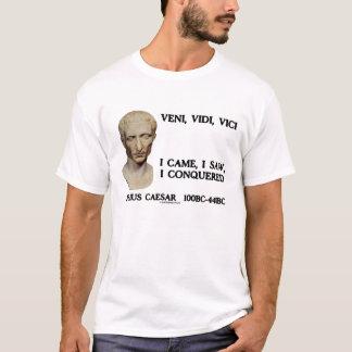 Julius Caesar Veni Vidi Vici I Came Saw Conquered T-Shirt