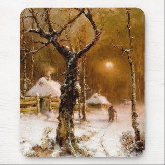 Julius Klever: Winter Night Walk Mouse Pad