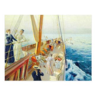Julius Stewart- Yachting in the Mediterranean Postcard