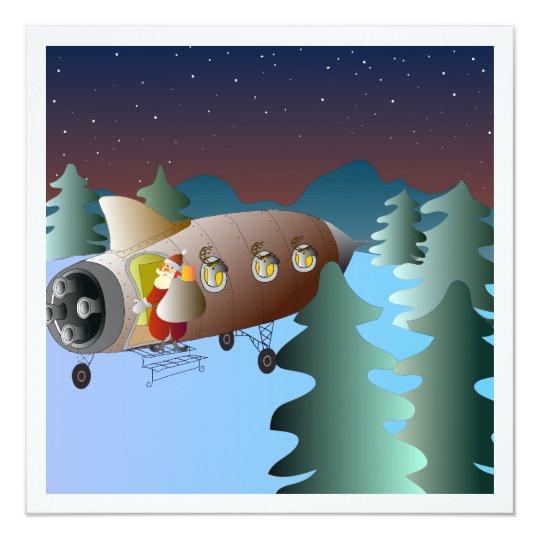 Julkort med månraket och tomte card