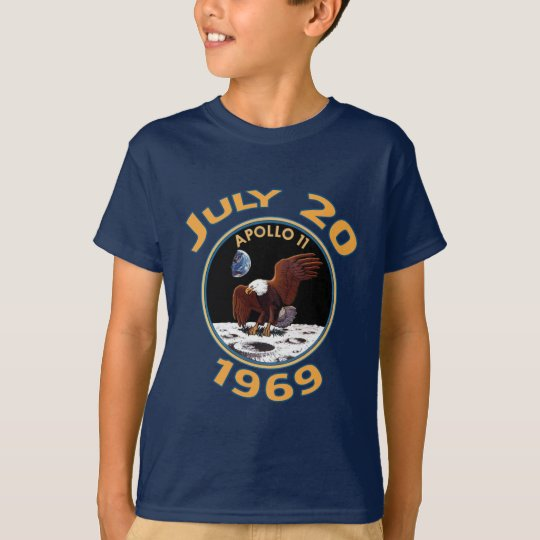 July 20, 1969 Apollo 11 Mission to the Moon T-Shirt