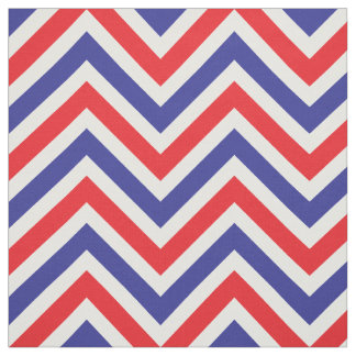 July 4 All American Red, White and Blue Chevron Fabric