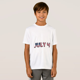 July 4 American Flag Typography Stars and Stripes T-Shirt