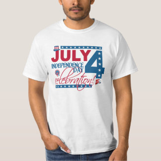 JULY 4 Celebration shirt, double-sided T-Shirt