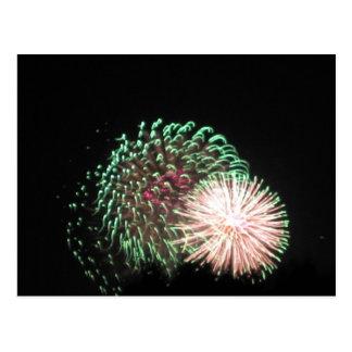 July 4- Fireworks Postcard