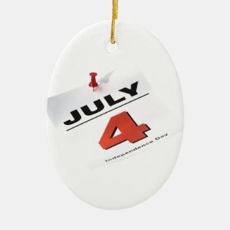 july 4 independence day ceramic ornament