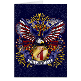 July 4 Independence Greeting Card