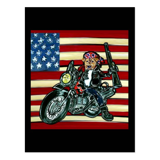 July 4th- Born to be Wild Airedale Postcard