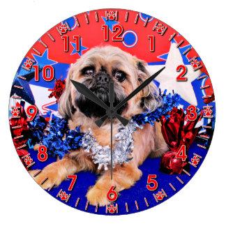 July 4th - Brussels Griffon - Oliver Wall Clocks