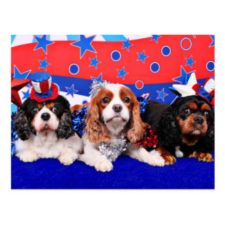 July 4th - Cavaliers - Rosie Poppy SweetPea Postcards