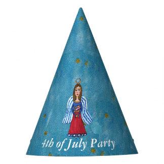 July 4th Celebration Patriotic Angel Flag Party Hat