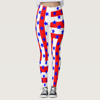 July 4th Holiday Stars & Stripes! LEGGINGS