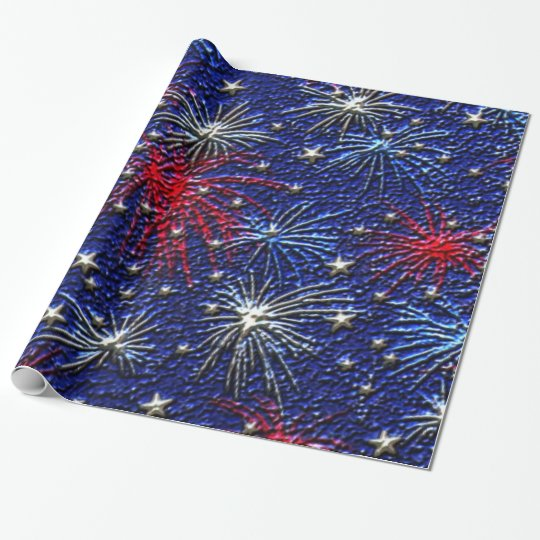 July 4th holiday wrapping paper
