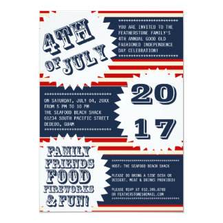 July 4th Independence Day Invitations