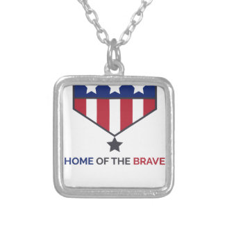 July 4th - Independence Day Silver Plated Necklace