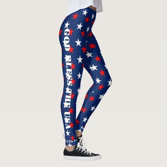 JULY 4th LEGGINGS Stars Parade Jogging Spin Pants
