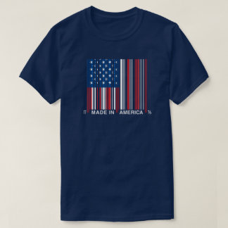July 4th Made In America Bar Code Shirt