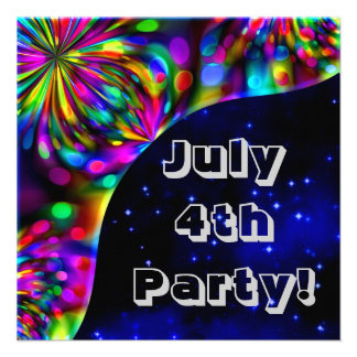 July 4th Party Invitation