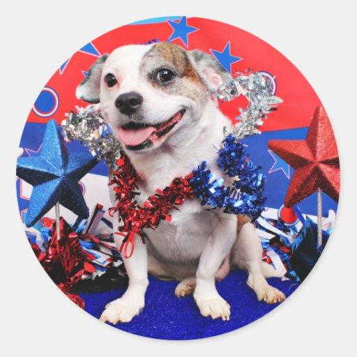 July 4th - Pitbull X - Opie Sticker
