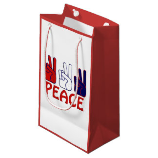July 4th Red White & Blue Peace SGB Small Gift Bag