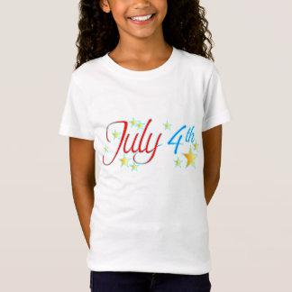 July 4th stars girl's t-shirt