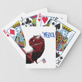 July 4th T Rex Bicycle Playing Cards