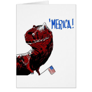 July 4th T Rex Card