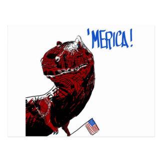 July 4th T Rex Postcard
