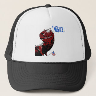 July 4th T Rex Trucker Hat