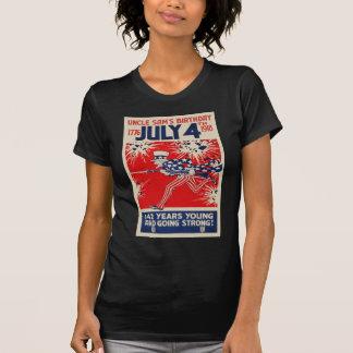 July 4th Uncle Sam's Birthday WWI Propaganda Tshirt