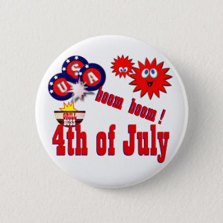 July 4th USA 2 Inch Round Button