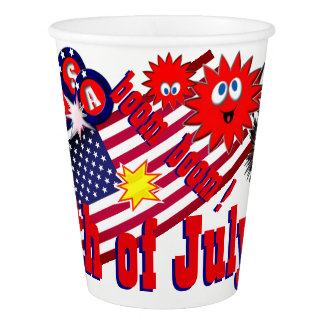 July 4th USA Paper Cup