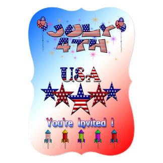 July 4th USA Party Invitation