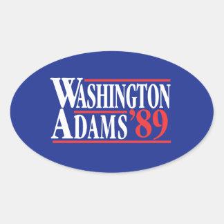 July 4th Washington Adams Campaign Bumper Sticker