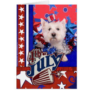 July 4th - Westie - Polo Card