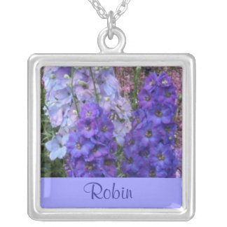 JULY Birth Flower - Delphinium Necklace
