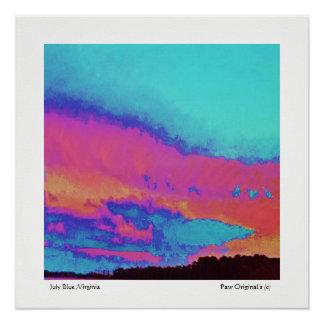 July-Blue-Fine-Art-Limited-Edition-Impressionist Poster
