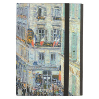 July Fourteenth, Rue Daunou by Childe Hassam iPad Air Cover
