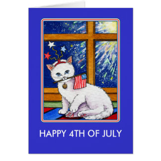 July Fourth Cat Card